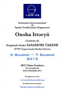 Onno Ha Itto Ryu, Sasamori Soke in Gradara Italy @ BCC PALAS GRADARA | Gradara | Marche | Italy