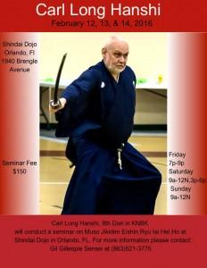 Muso Jikiden Eishin Ryu Seminar, Orlando FL @ Shindai Aikikai | Orlando | Florida | United States